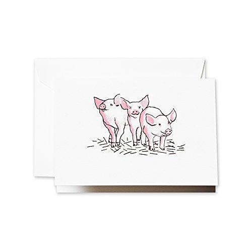 Crane & Co. Brushstroke Three Little Pigs Note (CF1406)