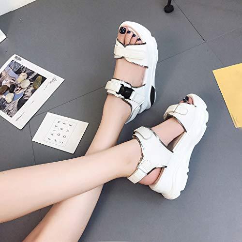 darringls Sandales Fond Chausson Pantoufles Été Blanc1 Mules Compensées 2019 Poisson Mode Chaussures Bouche Tongs Plage Femmes Loisirs De Épais rEwrZxCq8
