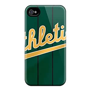 HappyDIYcase Perfect Tpu Case For Iphone 4/4s/ Anti-scratch Protector Case (oakland Athletics)