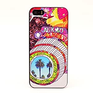 LCJ Colourful Camera Pattern Hard Case for iPhone 5/5S