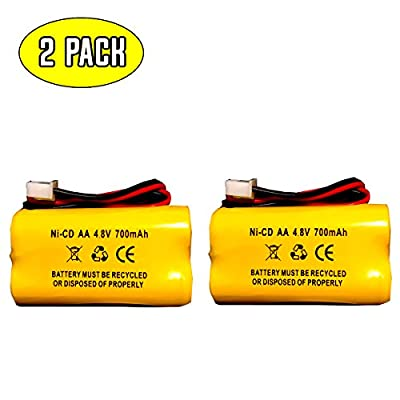 4.8v 500mAh Exit Sign Emergency Light Battery Replacement Cooper Industries 4-TD-800AA-HP BST Battery DAA700MAH4.8V Dual-Lite 12-894 4.8v 1100mah battery (2 pack)