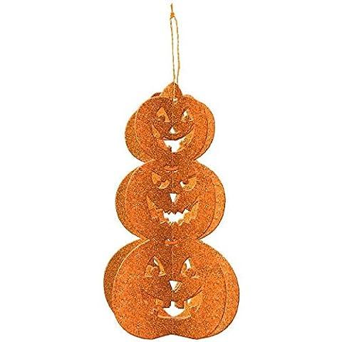 Family Friendly Halloween 3‑D Pumpkin Decoration Hanging Decoration, Paper, 11