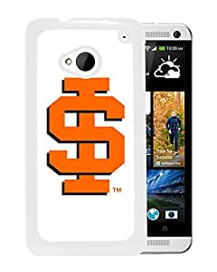 NCAA Idaho State Bengals 4 White HTC ONE M7 Protective Phone Cover Case