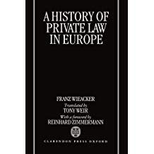 A History of Private Law in Europe