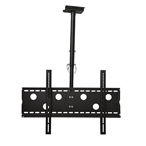 Monitor Deckenhalterung schwarz ausziehbar von 57cm bis 80cm schwenkbar, 20° neigbar 360° drehbar für Sony 65