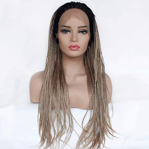 Scorpion wig fashion color three scorpion reggae head wig front lace chemical fiber hood (color : A, Size : 22 ()