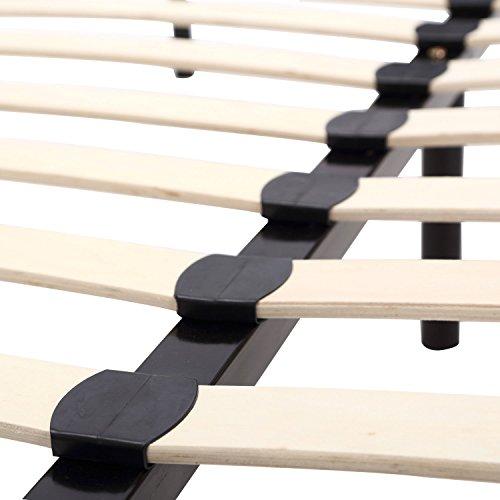 HomCom Queen Size Mattress Wood Slat Platform Bed Frame