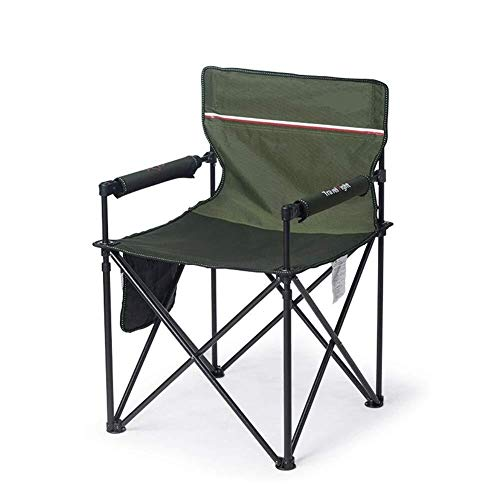 - Zichen Camping Chair Foldable Padded for Leisure, Seat Stool for Activities Outdoors/Camping/Barbecue/Beach/Backpack (Color : Verde)
