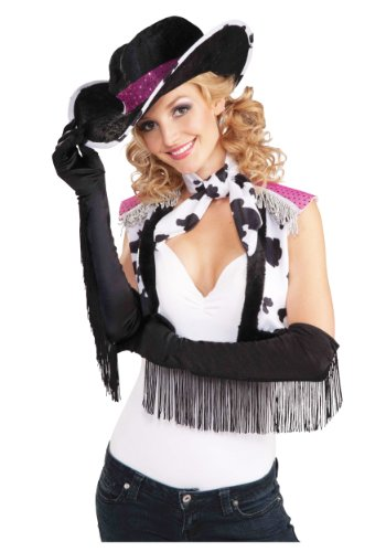 Cowgirl Costumes Black (Fringe Cowgirl Gloves)