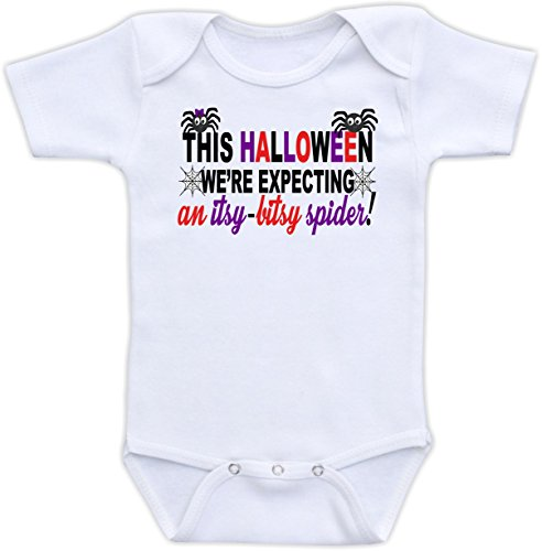 This Halloween We're Expecting An - Pregnancy Announcement (Newborn Short Sleeve Bodysuit) ()