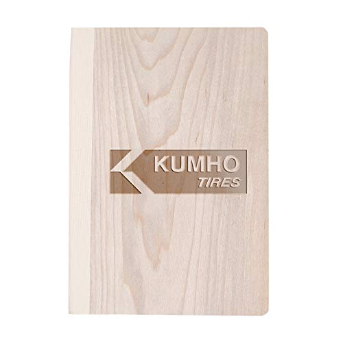 (Kumho Tires (Maple Wood) Wooden Notebook - Eco-Friendly Natural & Premium Thick Paper - Sketchbook Rustic Wood Wedding Guest Book)