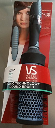 Vidal Sassoon Ionic Technology Round Brush with Bonus Clip (Vidal Sassoon Ionic Brush)