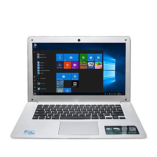 (Idol HD 14 inch Laptop Ultrabook Notebook Netbook PC Computer Windows 10 Intel Quad Core Processor eMMC Storage USB WiFi HDMI Camera Speaker Keyboard (RAM 2GB-Storage 32GB, Silver))