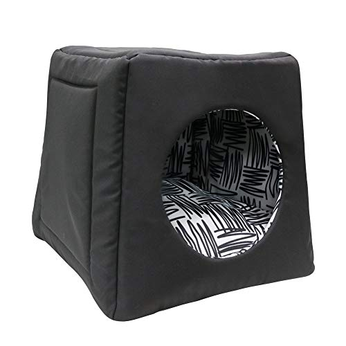 FY-LIVING Cozy Pet Bed Cave Nest for Cats&Dogs(Puppy) with Removable Cushion