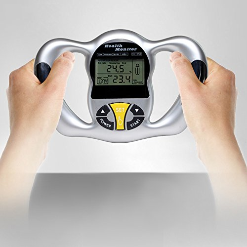 Thinkmax Body Fat Monitors Handheld LCD Display BMI Detector Fat Analyzer Weight Losing Measure Instrument, 9 Person Profile Memory