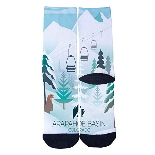 Eletina lee Eletina kgirt Men S Women S Custom Arapahoe Basin Colorado Ski Poster Socks 3D Print Novel Creative Casual Crew -