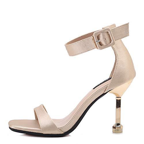 Frauen Schuhe Sommer Frauen Plattform Sandalen Schuhe Ankle Strap Dame Sexy Europäischen Design High Heels Sandalen Schuhe Krokodil Muster Zip Elegantes Und Robustes Paket Schuhe
