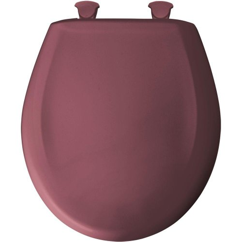 Bemis 200SLOWT 343 Lift-Off Plastic Round Slow-Close Toilet Seat, Raspberry