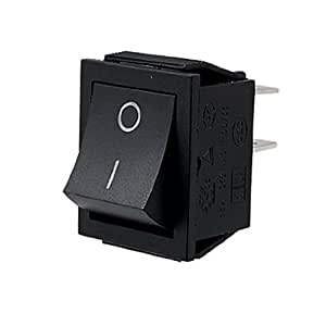 SODIAL(R) Interruptor Basculante CA 250V 16A 4 Pin ON/OFF I/O 2 Posicion DPST 28x21mm