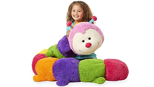 Toys R Us Animal Alley 96 inch Jumbo Stuffed Caterpillar, Multi color