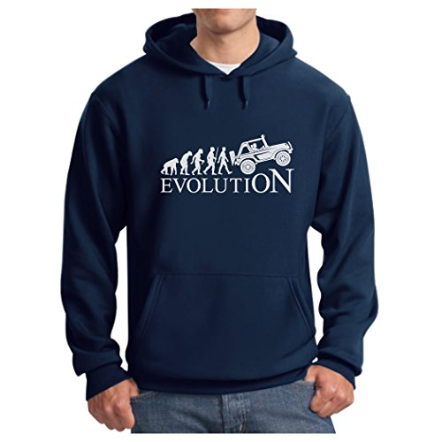 TeeStars - Evolution 4x4 - Gift for Off Road Lovers - Cool Hoodie Large Blue