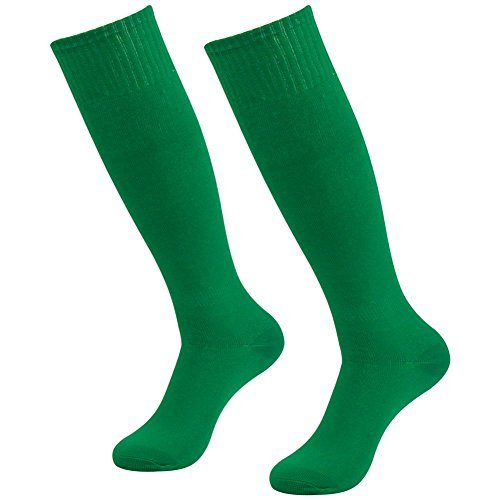 3street Unisex Soccer Sports Team Cushion Knee High Compression Tube Socks Green 2-Pairs,One Size,2-Pair Green,One Size - Green Knee Socks