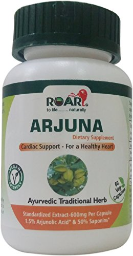 Max Strength ARJUNA 1200mg Vegetarian Capsules with 1.5% Arjunolic Acid for Blood Pressure & Healthy Heart function 1 Months Supply