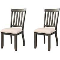 Abbey Avenue D D-Jet-SC Jett Side Chair Set, Dark Ash