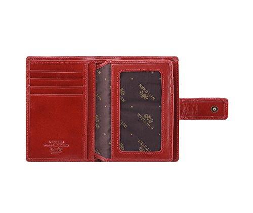 Wittchen Brieftasche | Farbe: Rot| Material: Narbenleder| Größe: 9x13 CM, | Orientierung: Vertikal | Kollektion: Italy| 21-1-291-3