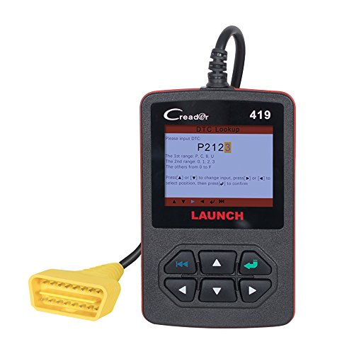 Launch Creader 419 ( Launch CReader CR4001 ) Code Reader OBDII / EOBD CR419 Auto Scan Tool Support Lifetime Free Upgrade Same Function As Launch CReader 4001