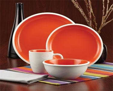 Rachael Ray Rise Dinnerware 4-Piece Salad Plate Set