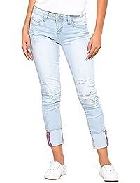 Womens WannaBettaButt 2 Button Mega Cuffed Skinny Jeans P713266