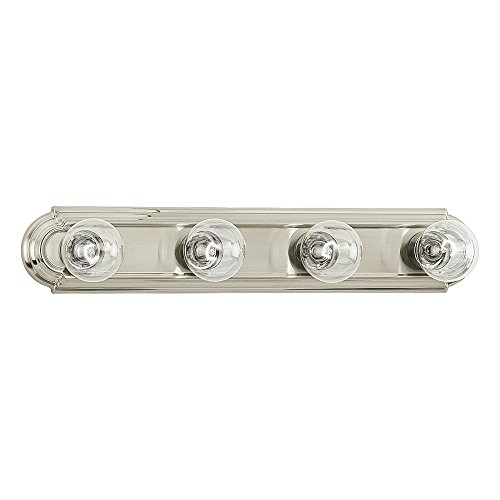Sea Gull Lighting 4701-962 De-Lovely Four-Light Bath or Wall Light Fixture, Brushed Nickel Finish Four Bulb Bar Light