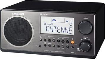 Sangean AM//FM Analog Tuning Radio Excellent Audio /& Reception Tone Control-Blue