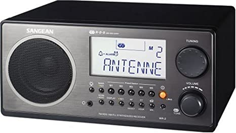 Sangean Digital AM/FM Tabletop Radio (Walnut) - WR-2WL WR-2 Walnut