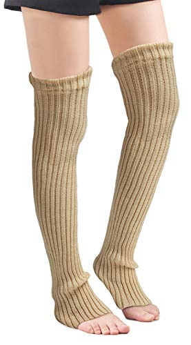 Over Knee High Footless Socks Knit Leg Warmers