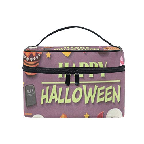 Cosmetic Bag Vintage Halloween With Ghost Womens Makeup