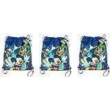 Disney Mickey Club House Non Woven Sling Bag x 3
