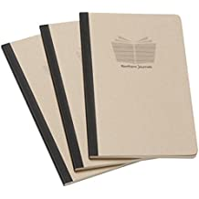 Northern Journals / Notebook, 3 Pack, 96 College Ruled Pages , Acid Free Sheets, 5x8   Made in USA