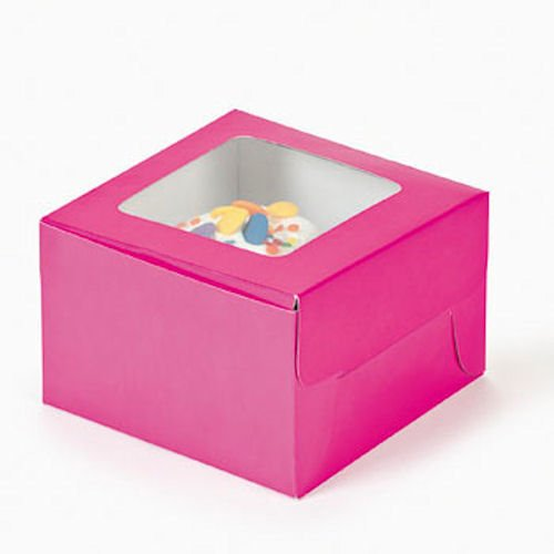 Dozen Hot Pink Cupcake Boxes
