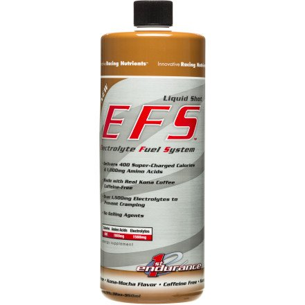 First Endurance EFS Liquid Energy Shot Refill – Sports Nutrition for Quick & Lasting Energy | Kona Mocha | 32 oz