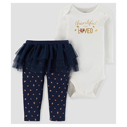 Baby Girl Thanksgiving Outfit Leggings Tutu Top 6 and 12 Months (3 months)