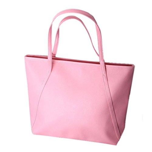 Sac capacités Messenge Noir Rose Agrandir femmes des Hiver New Tonsee® cuir Simple des zPYnx