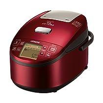 日立 炊飯器 圧力IHスチーム 5.5合 打込み鉄釜 ふっくら御膳 RZ-AV100M R