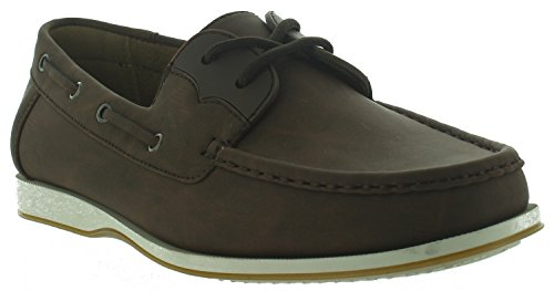 Aldo Rossini Mens Oregon-7 Slip-on Chaussures Mocassins Marron