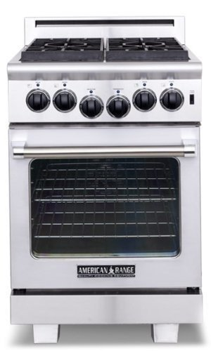 American Range ARR244N Heritage Series 24 Sealed Burner All Gas Deluxe - Stainless Steel (Heritage Series Gas Range)