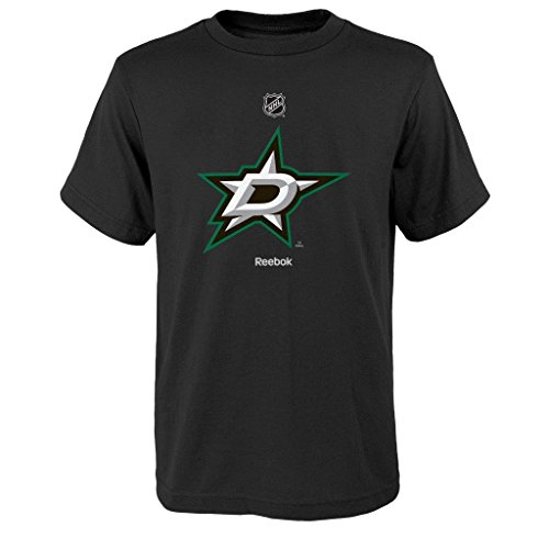 Reebok Team Logo Short Sleeve Hockey Shirt - Dallas Stars - LRG - Black -