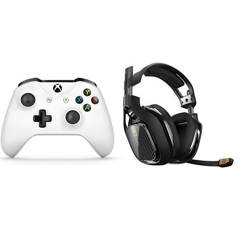 Photo - Xbox Wireless Controller (White) + ASTRO Gaming A40 Headset (Black)
