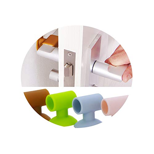 (Door Stopper Doorknob Crash Pad Door Stop Protector Door Stopper Jammer Door Walk Handle,Pink)