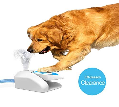 Yvelife Dog Water Sprinkler,Outdoor Dog Water Fountain Step On,Garden Pet Water Sprinkler (Outdoor Fountain Water Dog)